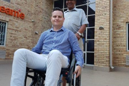 MiX Telematics Divisional Director of Operations, Jeandre Koen, spends his day in a wheelchair