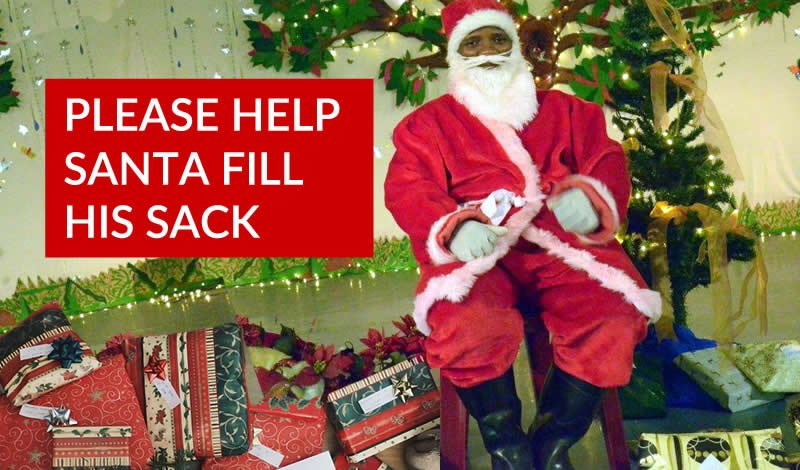 Santa Needs Your Help To Fill His Sack!